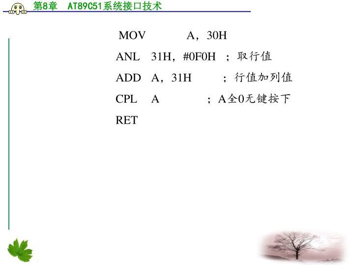 MOV  A