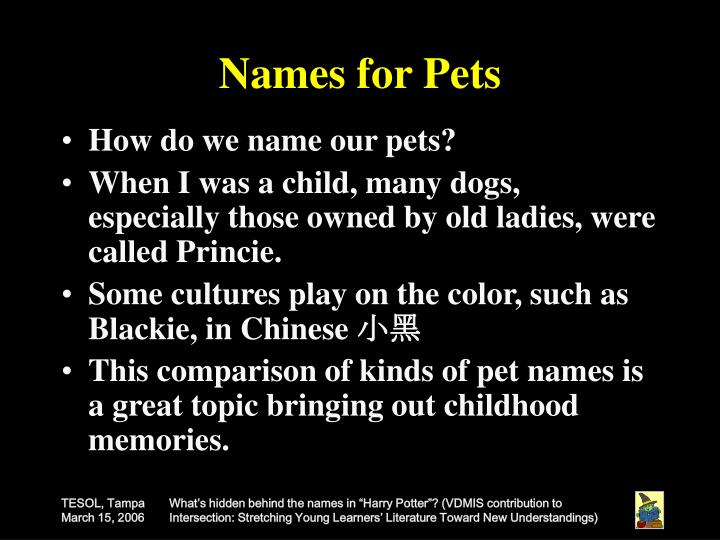 Names for Pets