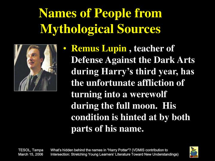 Names of People from Mythological Sources