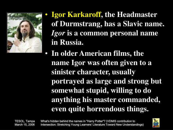 Igor Karkaroff