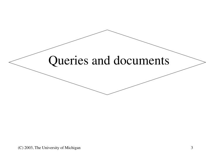 Queries and documents