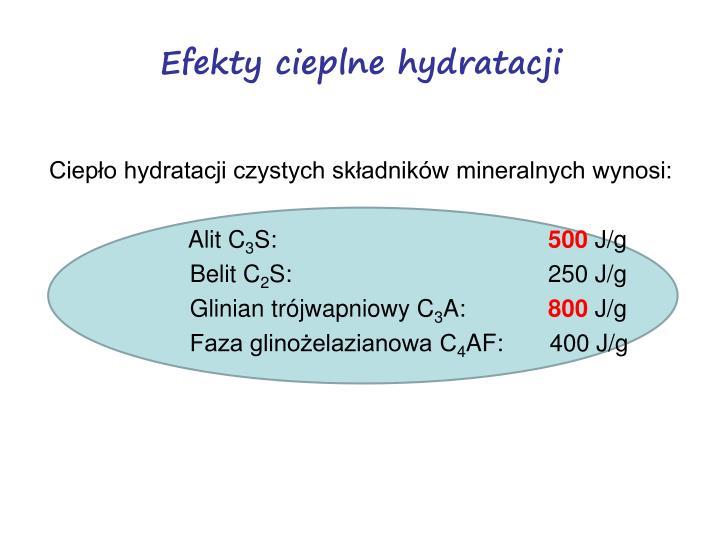 Efekty cieplne hydratacji