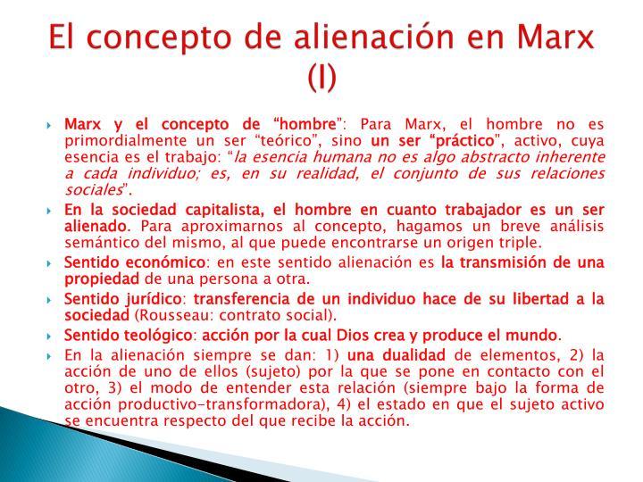 El concepto de alienación en Marx (I)