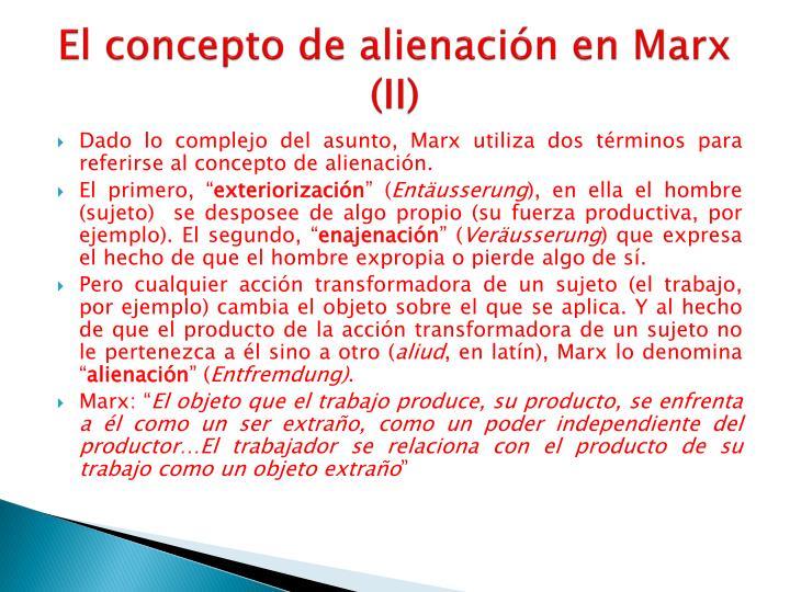 El concepto de alienación en Marx (II)
