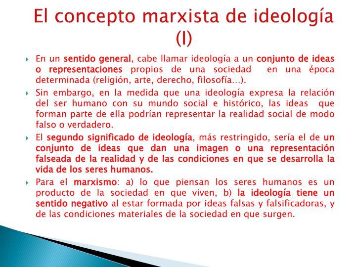 El concepto marxista de ideología (I)