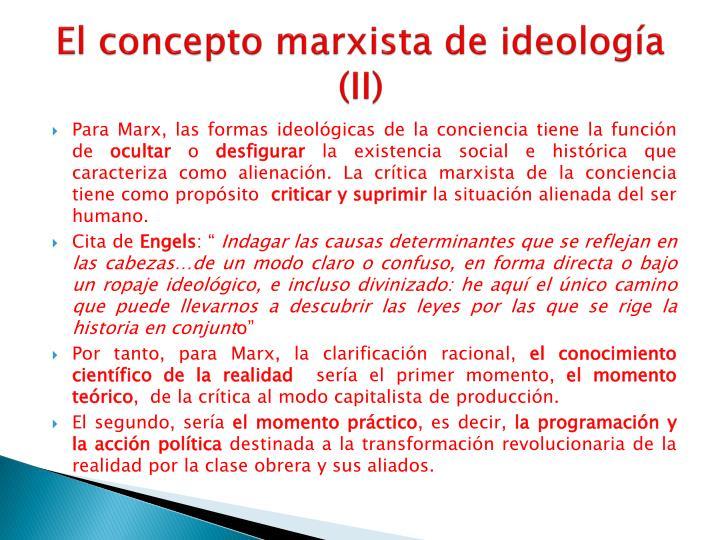 El concepto marxista de ideología (II)
