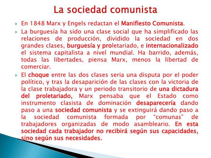 La sociedad comunista