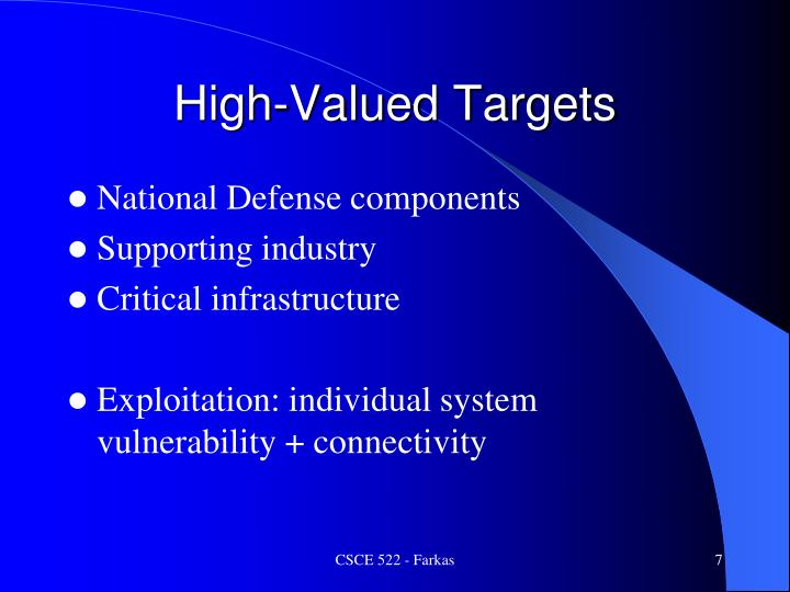 High-Valued Targets