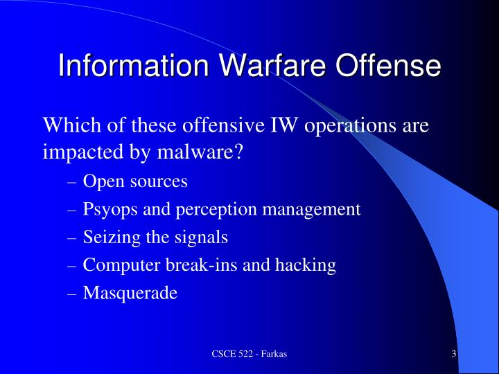 Information warfare offense