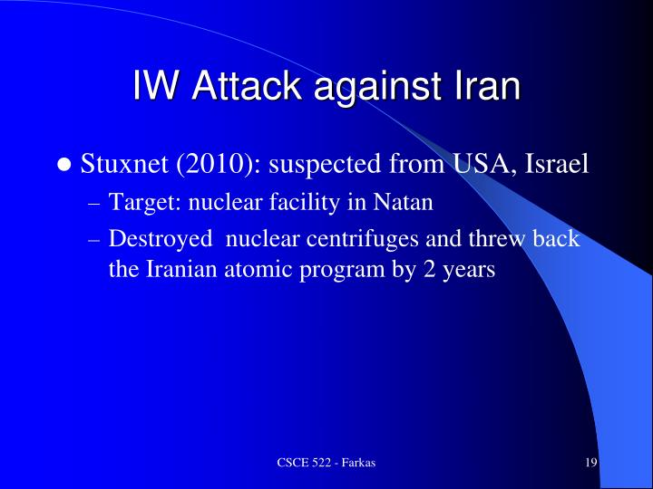 IW Attack against Iran