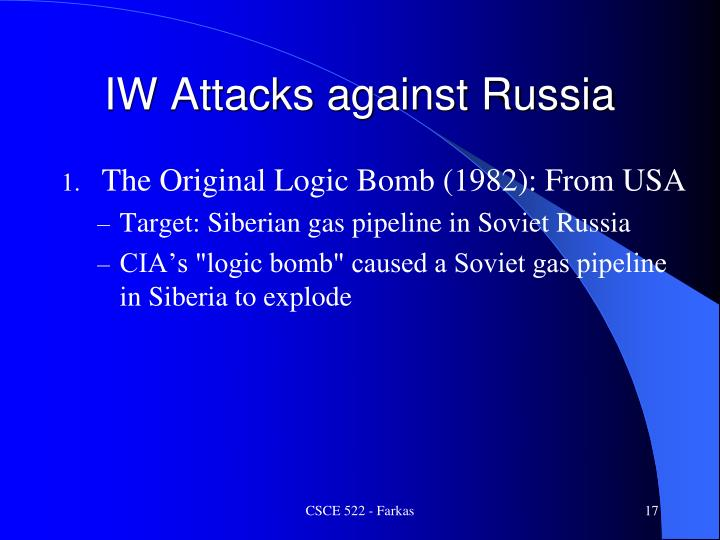 IW Attacks against Russia