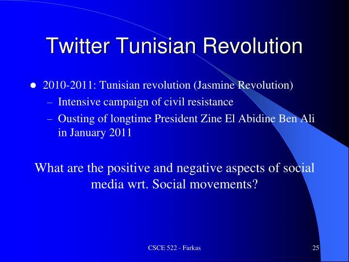 Twitter Tunisian Revolution
