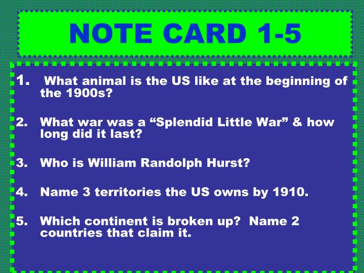 NOTE CARD 1-5