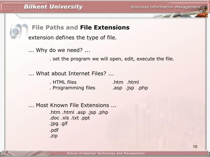 File Paths and