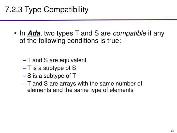 7.2.3 Type Compatibility