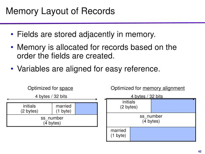 Memory Layout of Records