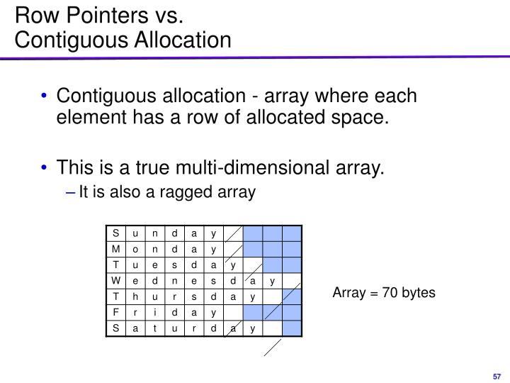 Row Pointers vs.