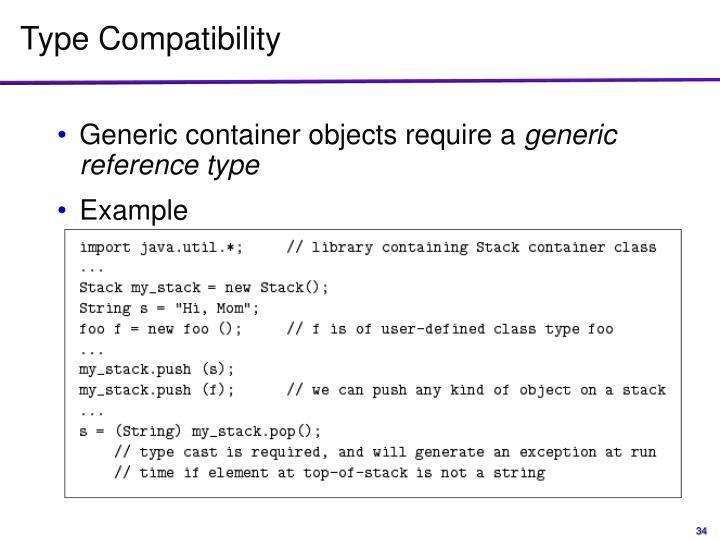 Type Compatibility