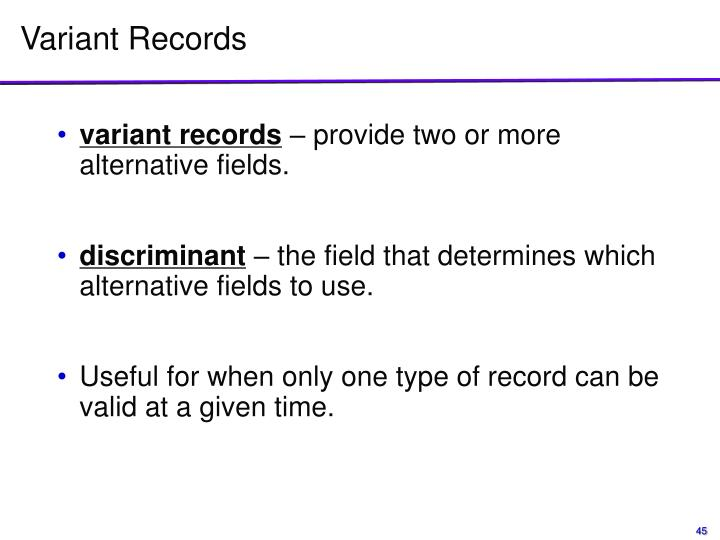 Variant Records