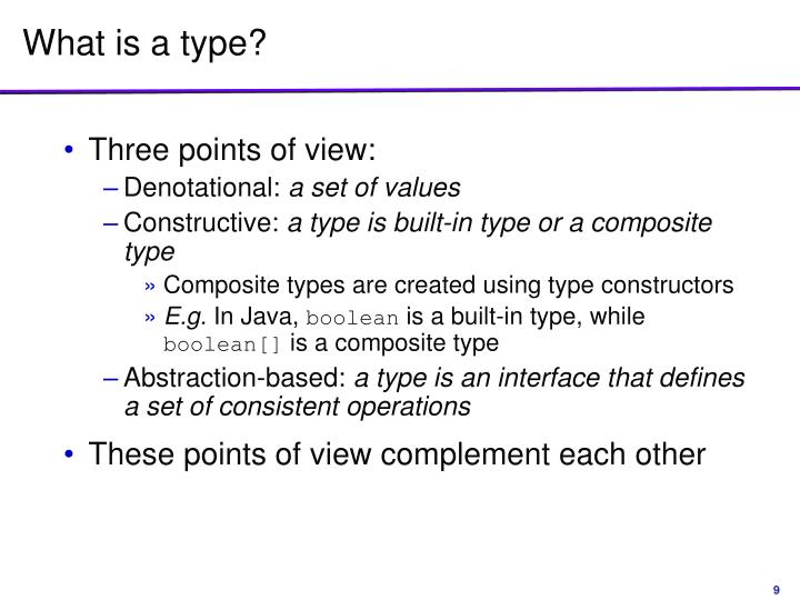 What is a type?