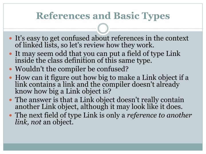 References and basic types1