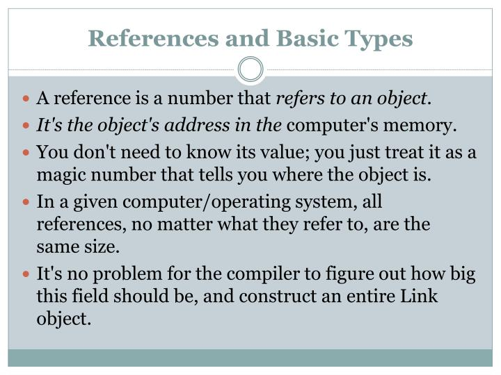 References and basic types2