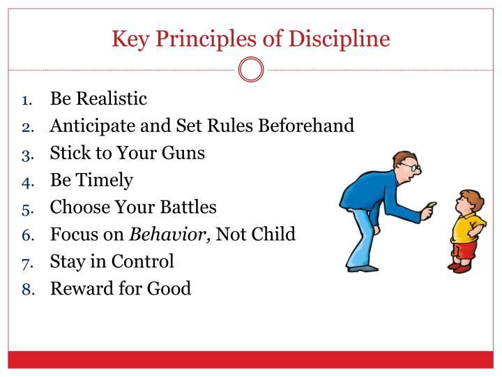 Key Principles of Discipline