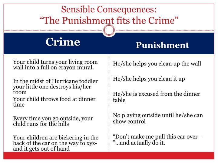 Sensible Consequences: