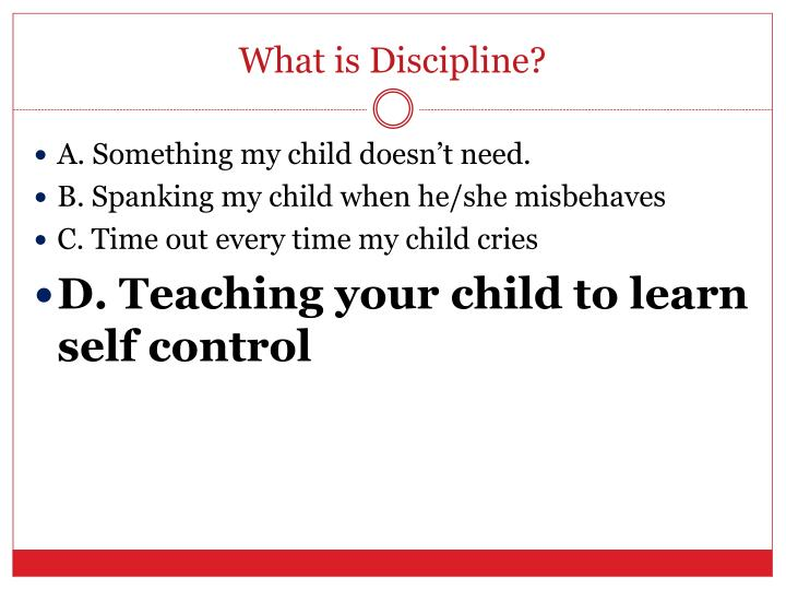What is Discipline?