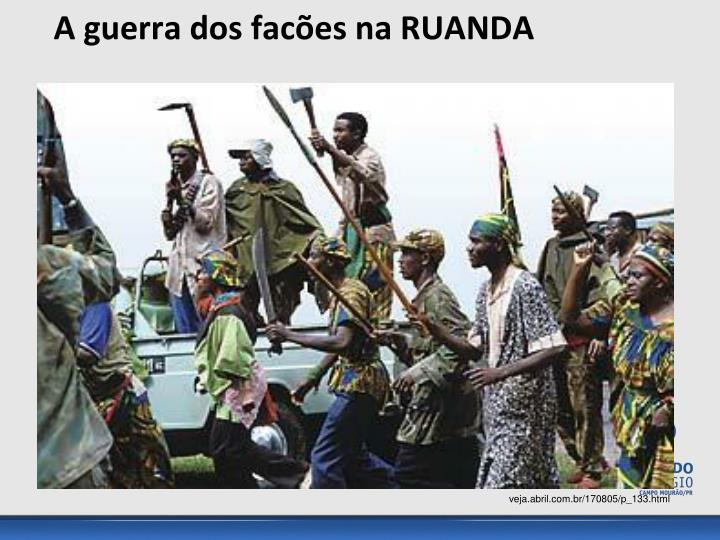A guerra dos facões na RUANDA