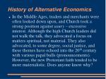 history of alternative economics1