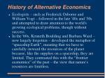 history of alternative economics11