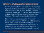 history of alternative economics13