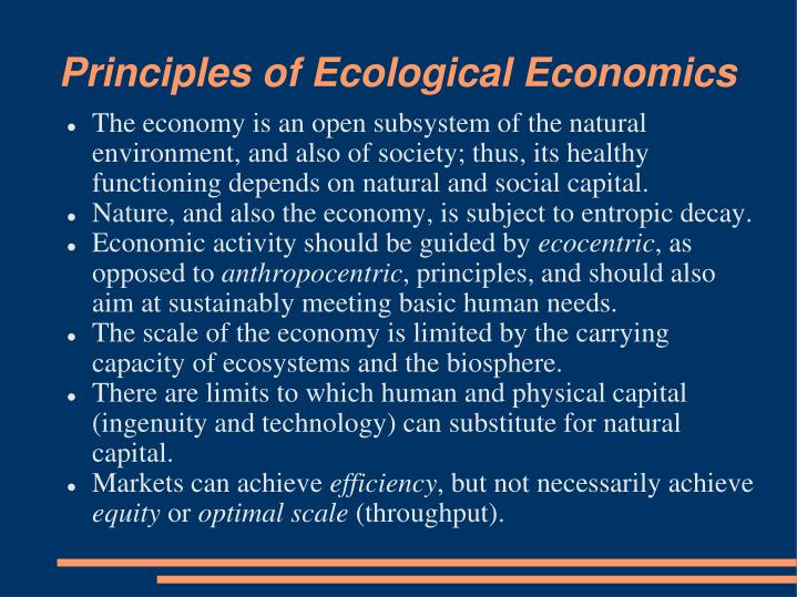 Principles of Ecological Economics