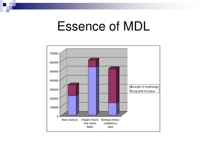 Essence of MDL