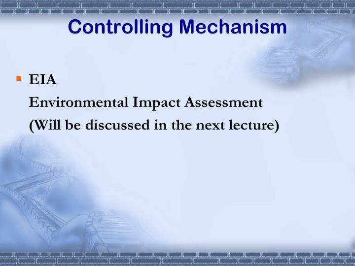 Controlling Mechanism