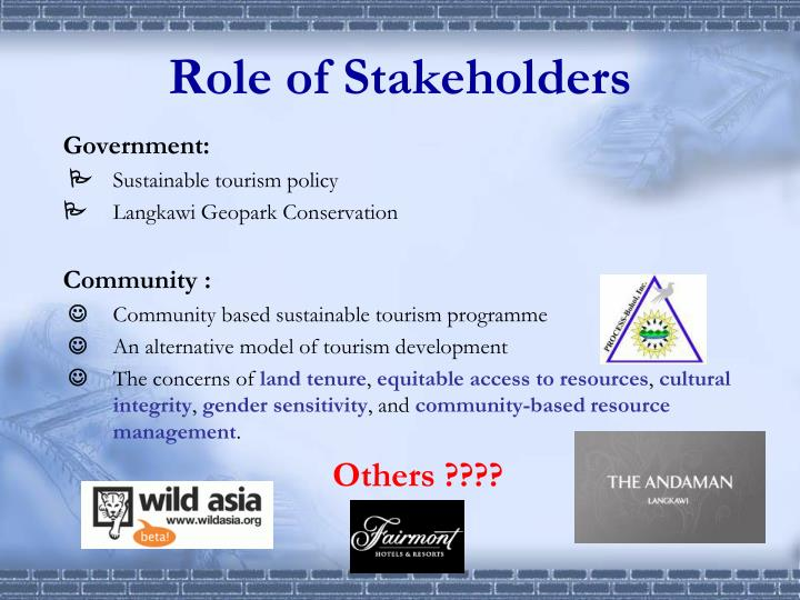 Role of Stakeholders