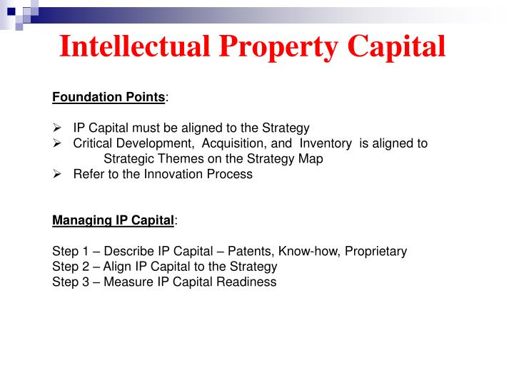 Intellectual Property Capital