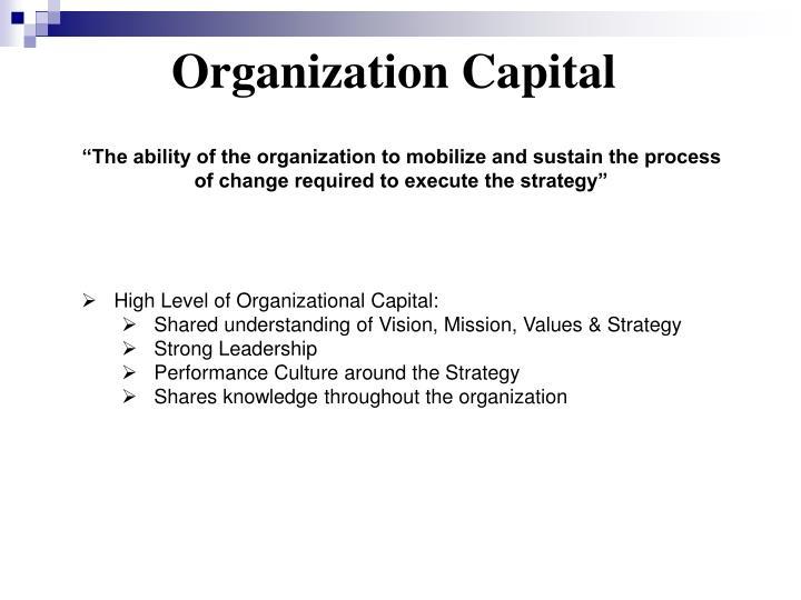 Organization Capital