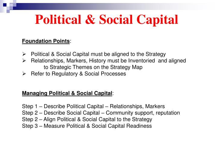 Political & Social Capital
