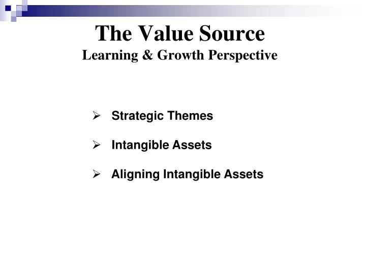 The value source learning growth perspective