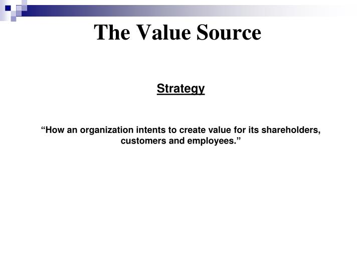 The Value Source
