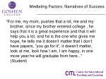 mediating factors narratives of success