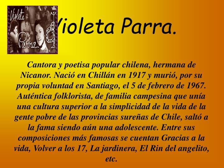 Violeta Parra.