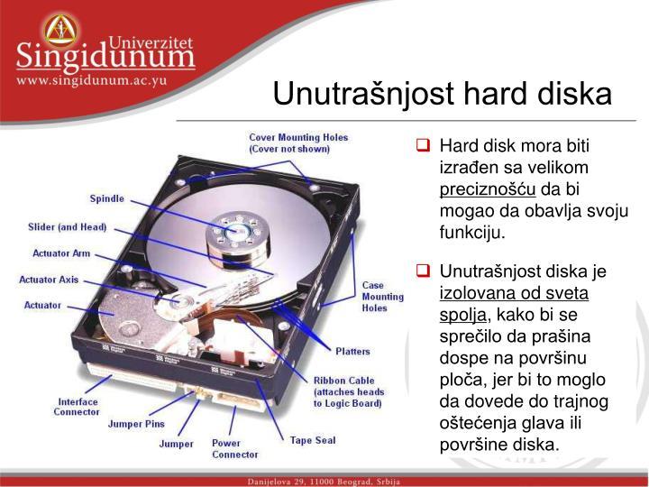 Unutrašnjost hard diska