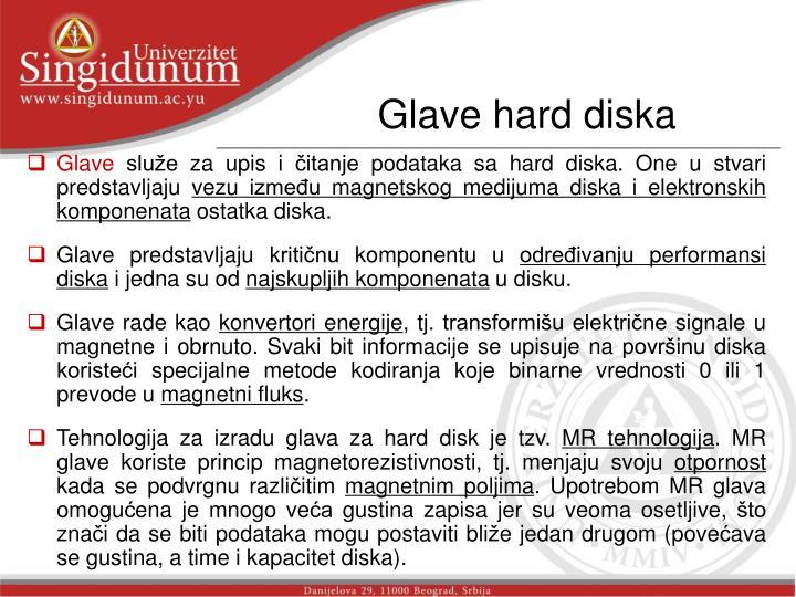 Glave hard diska