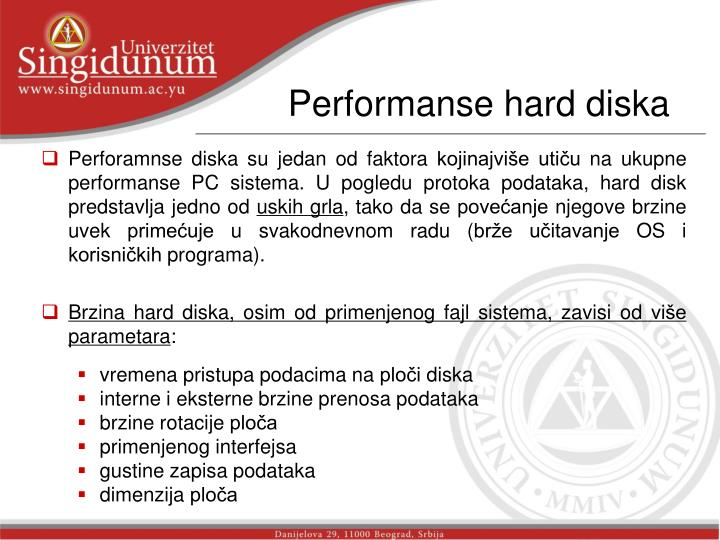 Performanse hard diska