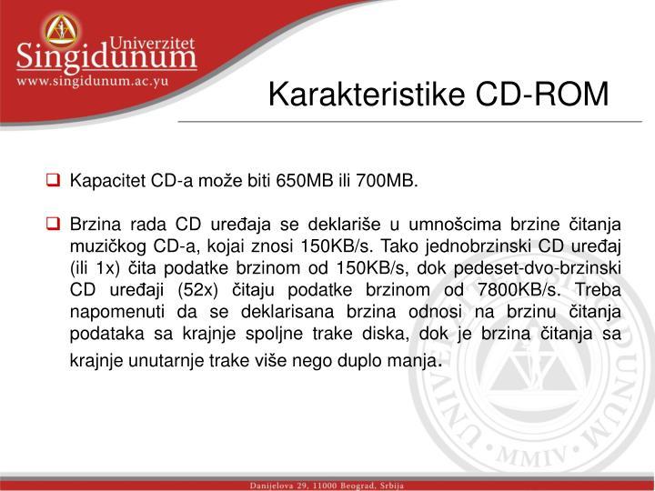 Karakteristike CD-ROM