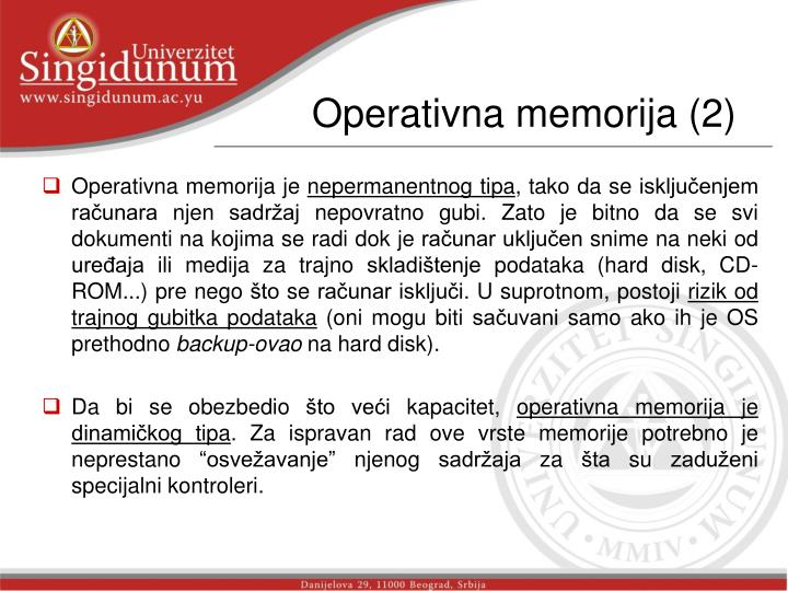 Operativna memorija (2)