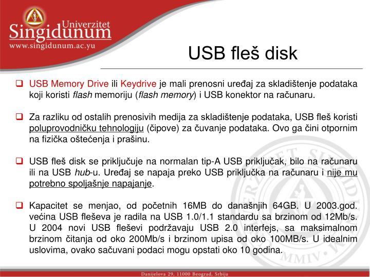 USB fleš disk